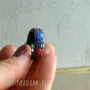 ręcznie robione obrączki kolorowa obrączka