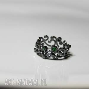 srebrne obrączki srebro krople rosy w koronkach