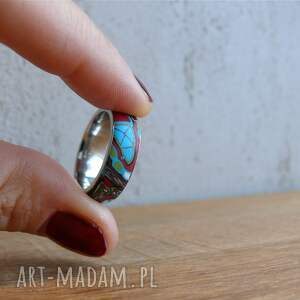 frapujące obrączki mozaikowa obrączka