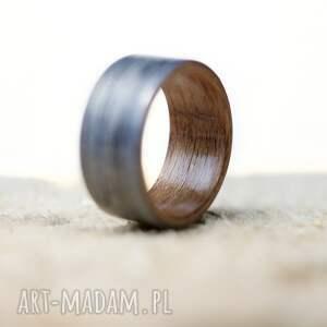 ręcznie zrobione obrączki obrączka pierścionek z drewna dąb