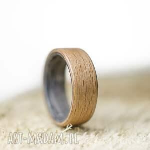 nietuzinkowe obrączki obrączka pierścionek z drewna buk