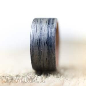 beżowe obrączki obrączka pierścionek z drewna dąb