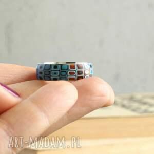 turkusowe obrączki pierścionek obrączka w turkusie