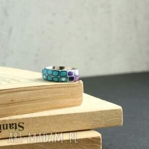 obrączki pierścionki obrączka z fimo i stali