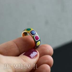 niebieskie obrączki pierścionki obrączka ze stali