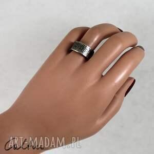 Caltha awangardowe obrączki pierścionek piasek - metalowa obrączka (rozm