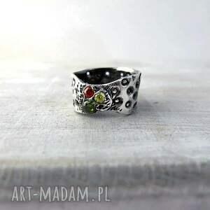 ręcznie zrobione obrączki pierścionek art clay silver