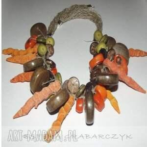 obrączki len pomarańczowa jesień
