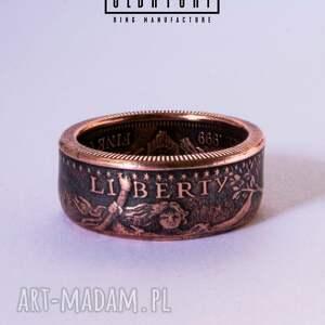 atrakcyjne obrączki pierścionek saint gaudens double eagle