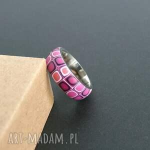 Foffaa handmade obrączki stalowa obrączka z polymer