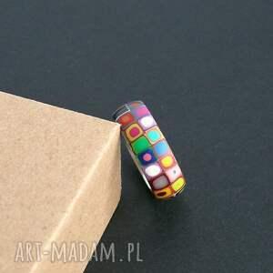 obrączki stalowa obrączka z polymer clay