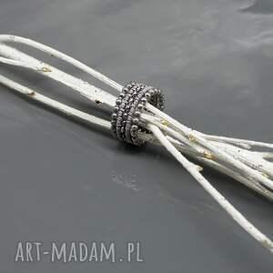 obrączka obrączki wired - zestaw srebrnych
