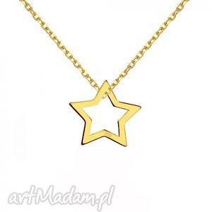 oryginalne obrączki modny złoty naszyjnik z gwiazdką