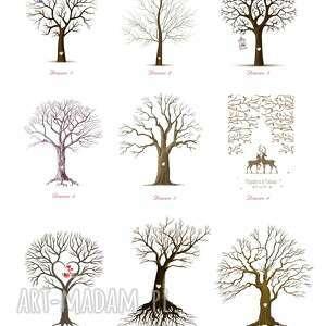 niebanalne ślub obraz na płótnie - drzewo wpisów