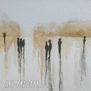 akwarela abstrakcja formatu 18/24