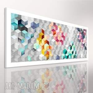 kwadraty abstrakcja 120x50