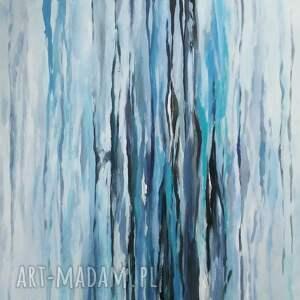 niepowtarzalne abstrakcja niebieska -obraz