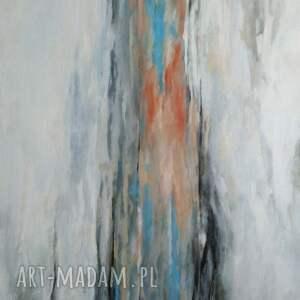 niebieskie obrazy obraz abstrakcja-obraz akrylowy formatu