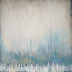 niebieskie akryl abstrakcja obraz akrylowy formatu