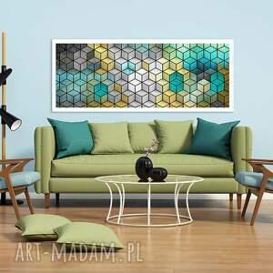 niepowtarzalne obrazy abstrakcja sześciany 120x50