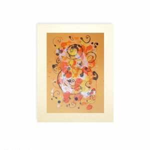 kolorowe malowany ręcznie abstrakcja w ciepłych kolorach