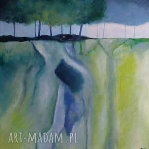 efektowne obrazy abstrakcja abstrakcyja z drzewami -obraz