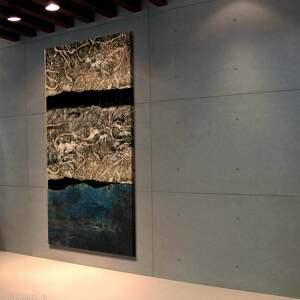 art and texture Abstrakcyjny obraz do salonu w stylu modern glam - duże obrazy nowoczesne