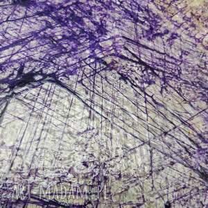 unikatowy fioletowe ametist - abstrakcja ręcznie