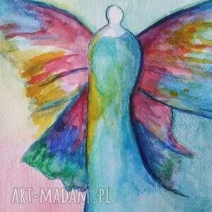 akwarela anioł formatu