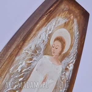 anioł obraz akrylowy malowany na grubej płycie mdf