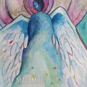 frapujące akwarela anioły - dwie akwarele formatu