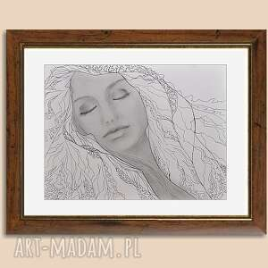 kobieta annapurna, obraz ręcznie