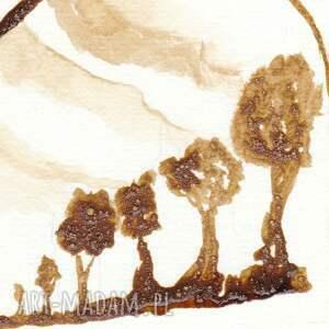 eleganckie obrazy babuszka - obraz kawą malowany