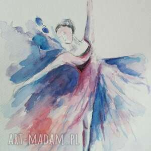 ciekawe baletnica -akwarela formatu