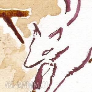 obrazy lis bo znajdzie się bocian - obraz kawą
