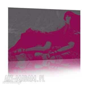 różowe obrazy moda buduar
