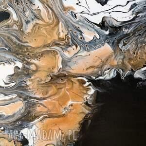 dosalonu białe czarno - złoty granit abstrakcja