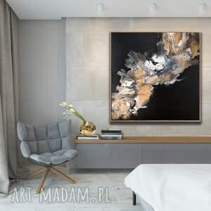 dosalonu czarno - złoty granit abstrakcja
