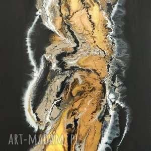 urokliwe do salonu czarny piasek xl - nowoczesny obraz