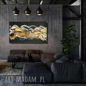 urokliwe obraz nowoczesny czarny piasek xl -