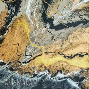 czarne prezent czarny piasek xl - nowoczesny obraz