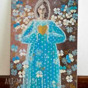 obrazy anioł dłonie są krajobrazem serca ( jan