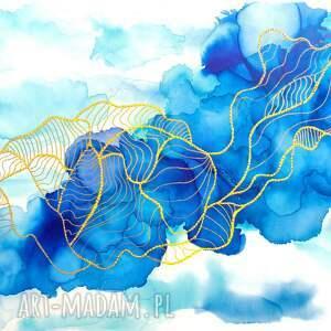 DNA Marzyciela - abstrakcja ręcznie malowana z fakturą 3D - obraz do salonu