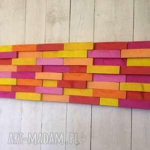 żółte drewno drewniany obraz na zamówienie