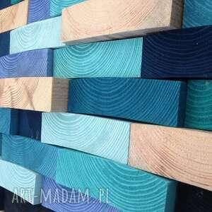 niebieskie obrazy drewno drewniany obraz na zamówienie