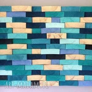 wyraziste obrazy mozaika drewniany obraz na zamówienie