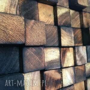 mozaika obrazy brązowe drewniany obraz na zamówienie
