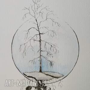 drzewo akwarela formatu