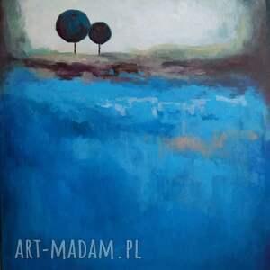 Paulina Lebida ciekawe obraz dwa drzewa akrylowy formatu