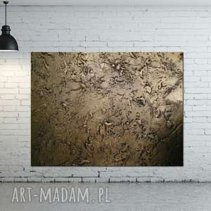 obrazy do salonu efektowny metaliczny obraz